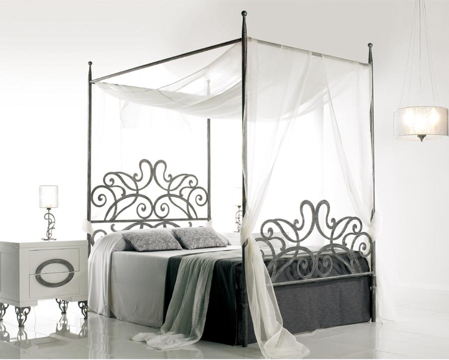 Dormitorio MEDEA Dosel con caba de forja