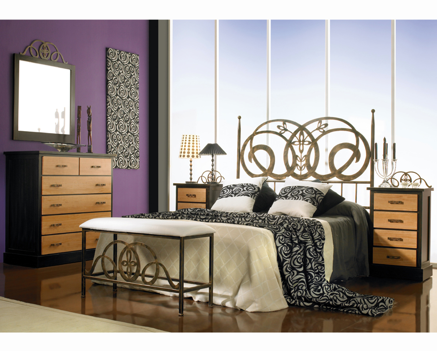 Dormitorio MIMERVA con cabecero de cama en forja