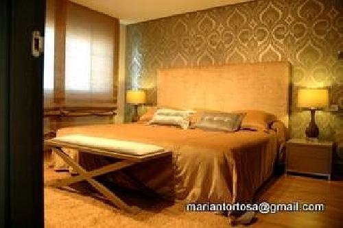 Foto dormitorio principale cabezal tapizado papel - Tapidecor alzira ...