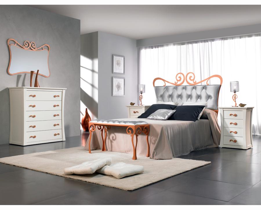 Dormitorio SICILIA con cabecero de cama en forja