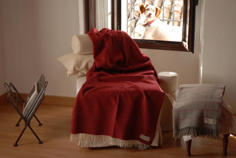 Plaid para sofá Burdeos