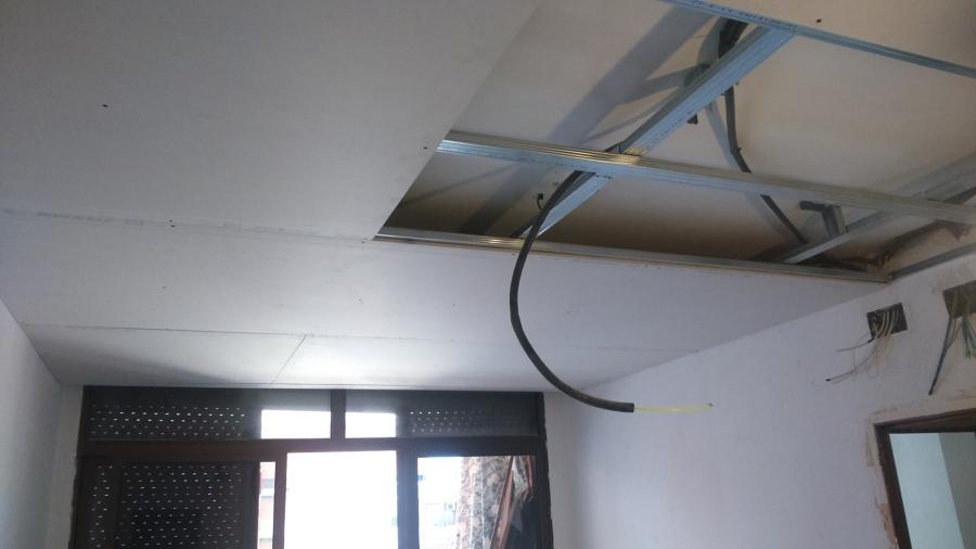 Colocación techo pladur