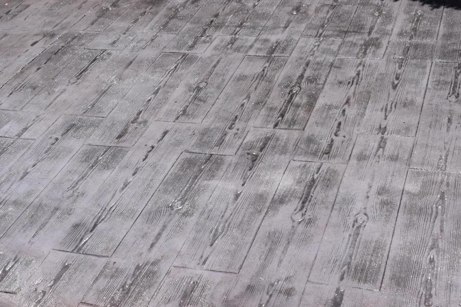 Foto hormigon impreso molde madera de pavimentos y Hormigon impreso lleida