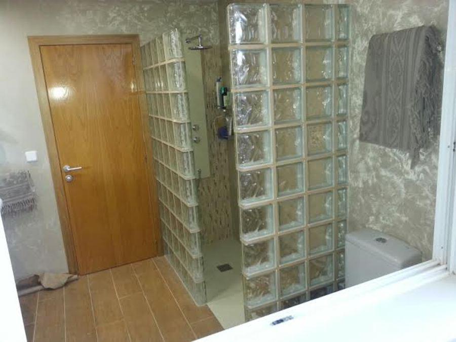 Foto ducha con cristal de paves de construcciones mobares - Cristal de paves ...