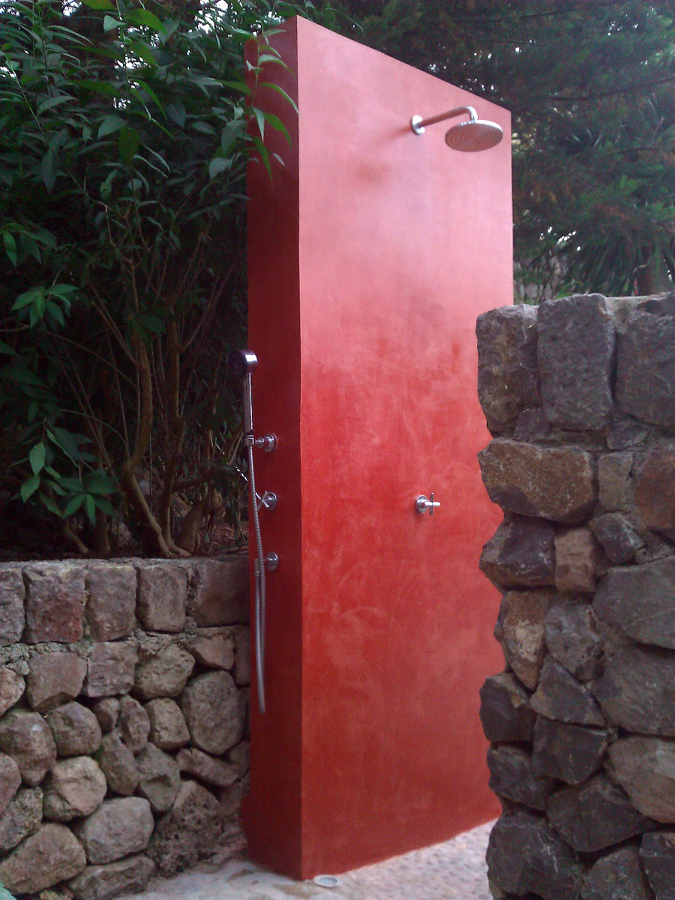 ducha  con  micro cemento