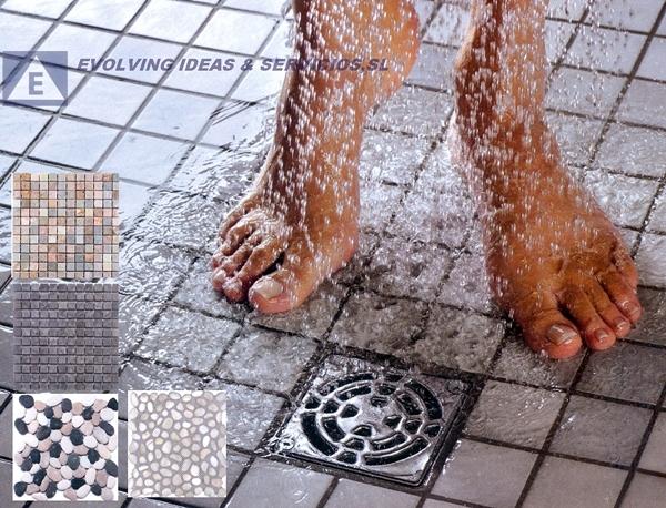Foto ducha de obra de gresite de evolving ideas - Platos de ducha de gresite ...
