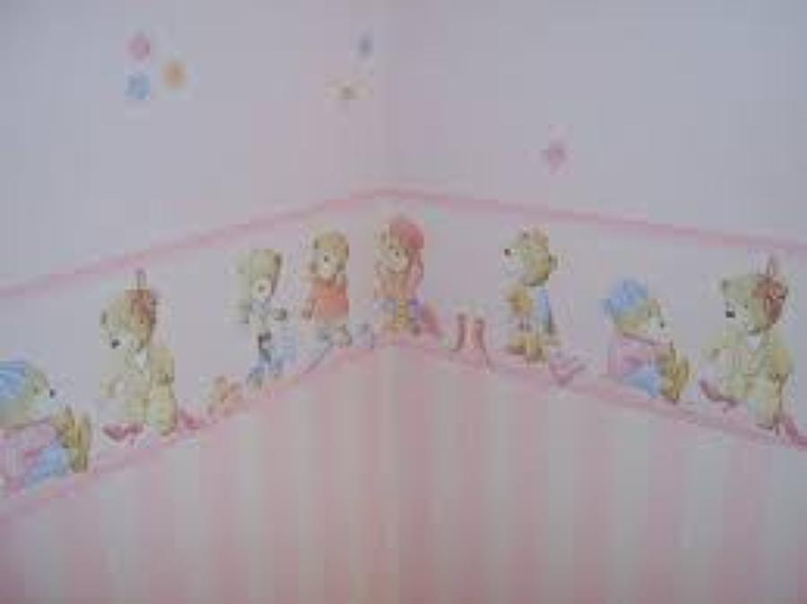 Foto empapelado dormitorio infantil de mart n for Dormitorios empapelados y pintados