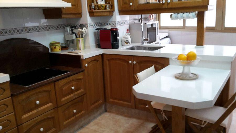 encimera cocina cuarzo blanco supremo
