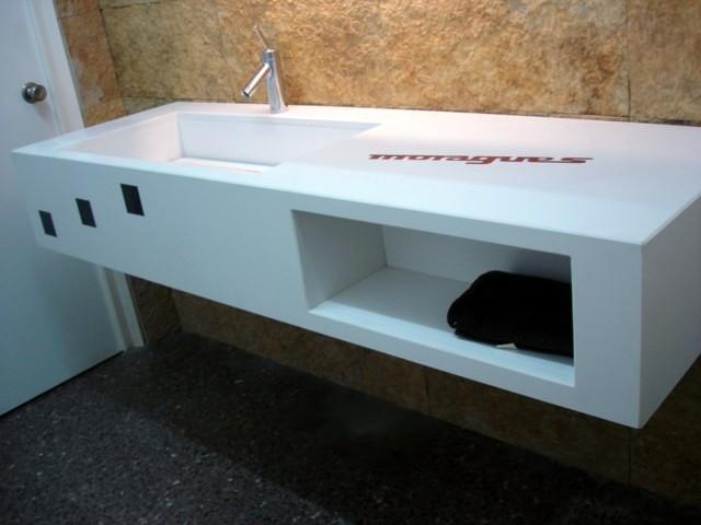 Encimeras Baño Krion:Foto: Encimera de Baño Silestone de Taller De Piedra Moragues Sa