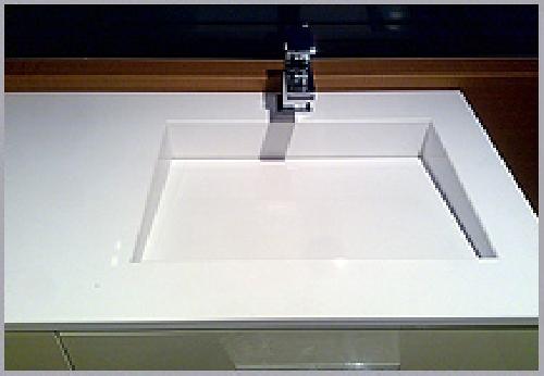 Foto encimera de bany amb silestone blanc i pica - Pica silestone ...
