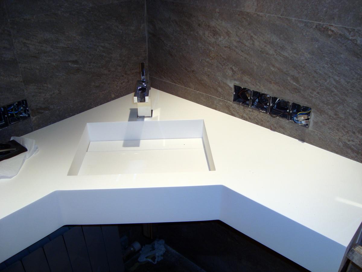 Encimeras Baño Krion:Foto: Encimera de Bany Realitzada Amb Krion de