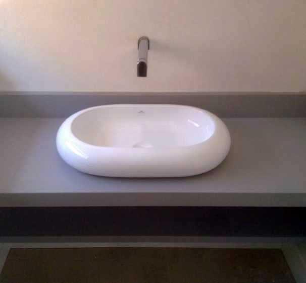 Encimera para bol de baño