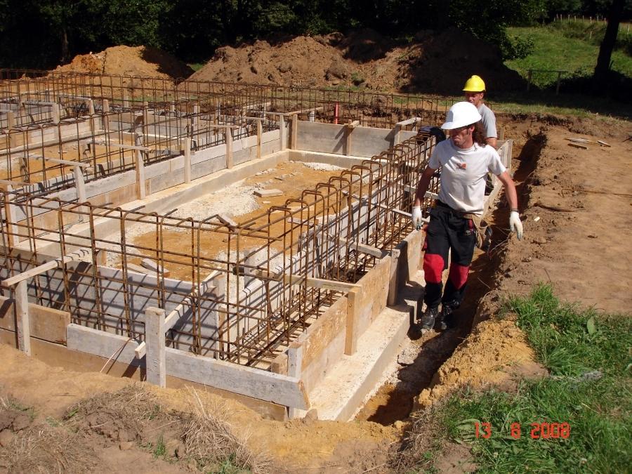 Foto encofrado cimentaci n 2 de arquitecto tecnico - Losas para piscinas ...