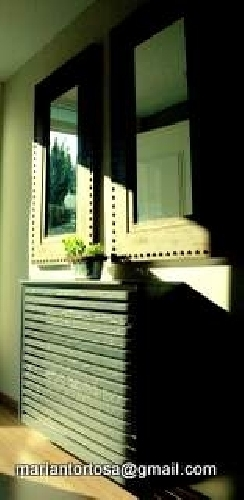 Foto entrada recibidor consola y espejos pared de - Tapidecor alzira ...
