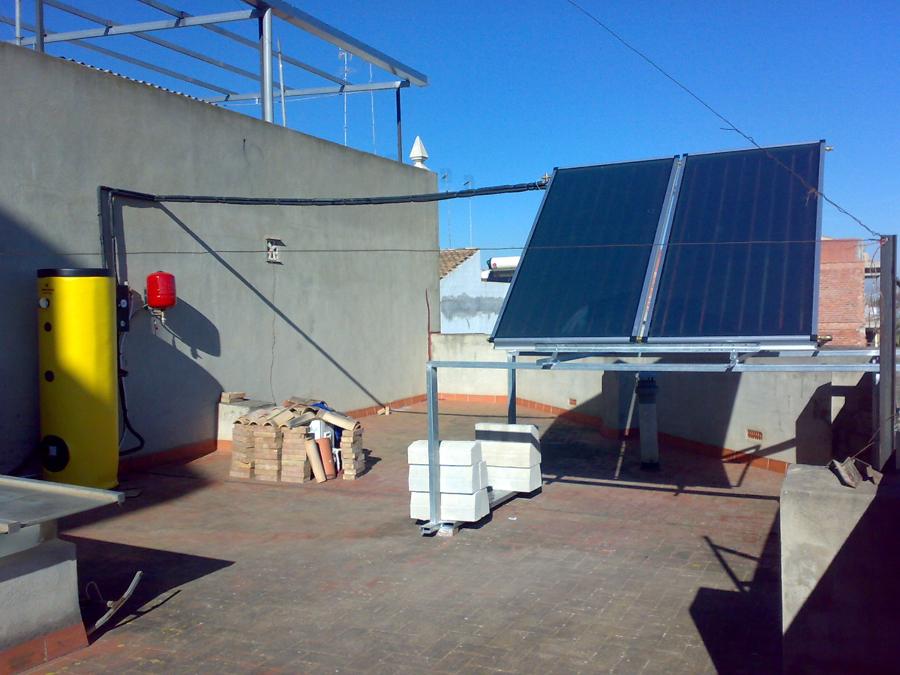 Equipos solares forzados para ACS