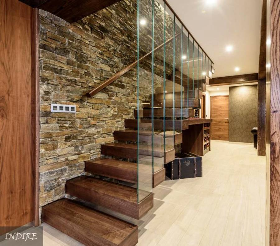 Foto escalera r stica de o d reformas 1314244 habitissimo - Como hacer un altillo de madera ...