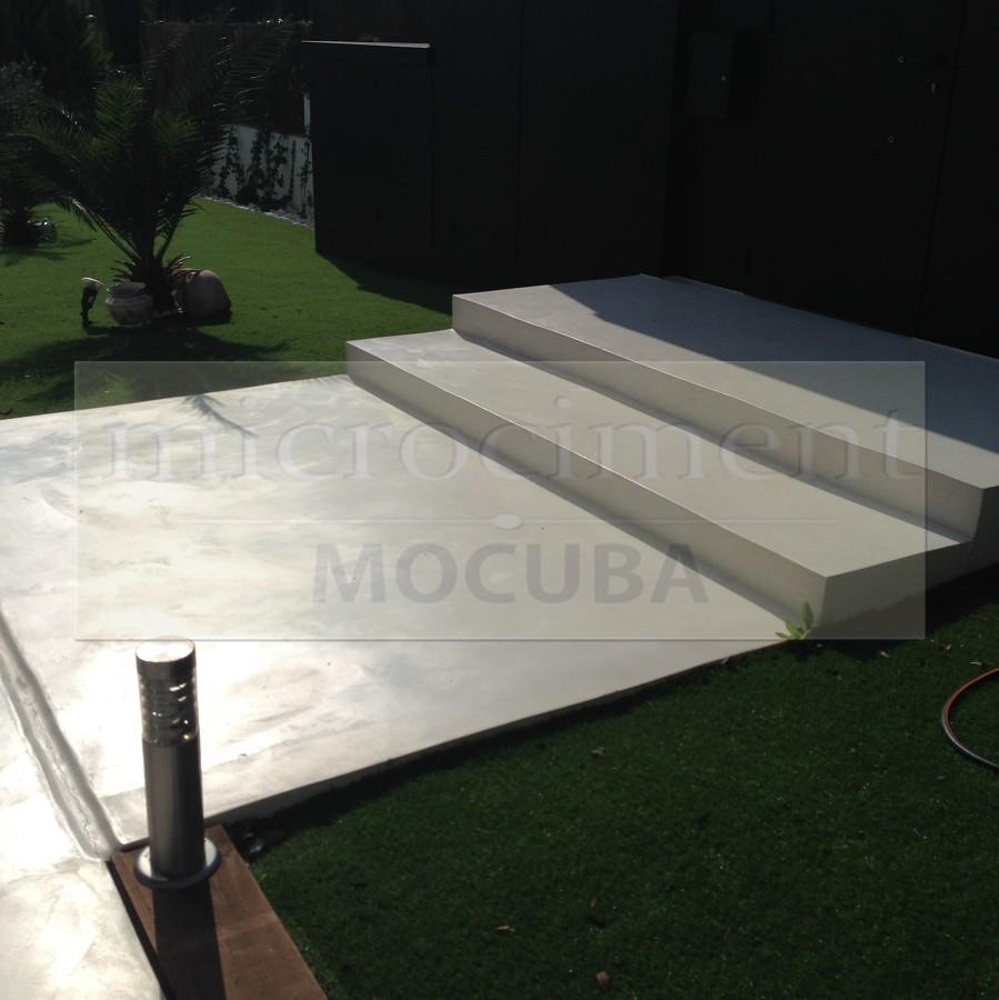 Foto escalera exterior microcemento de shaco mocuba - Microcemento para exterior ...
