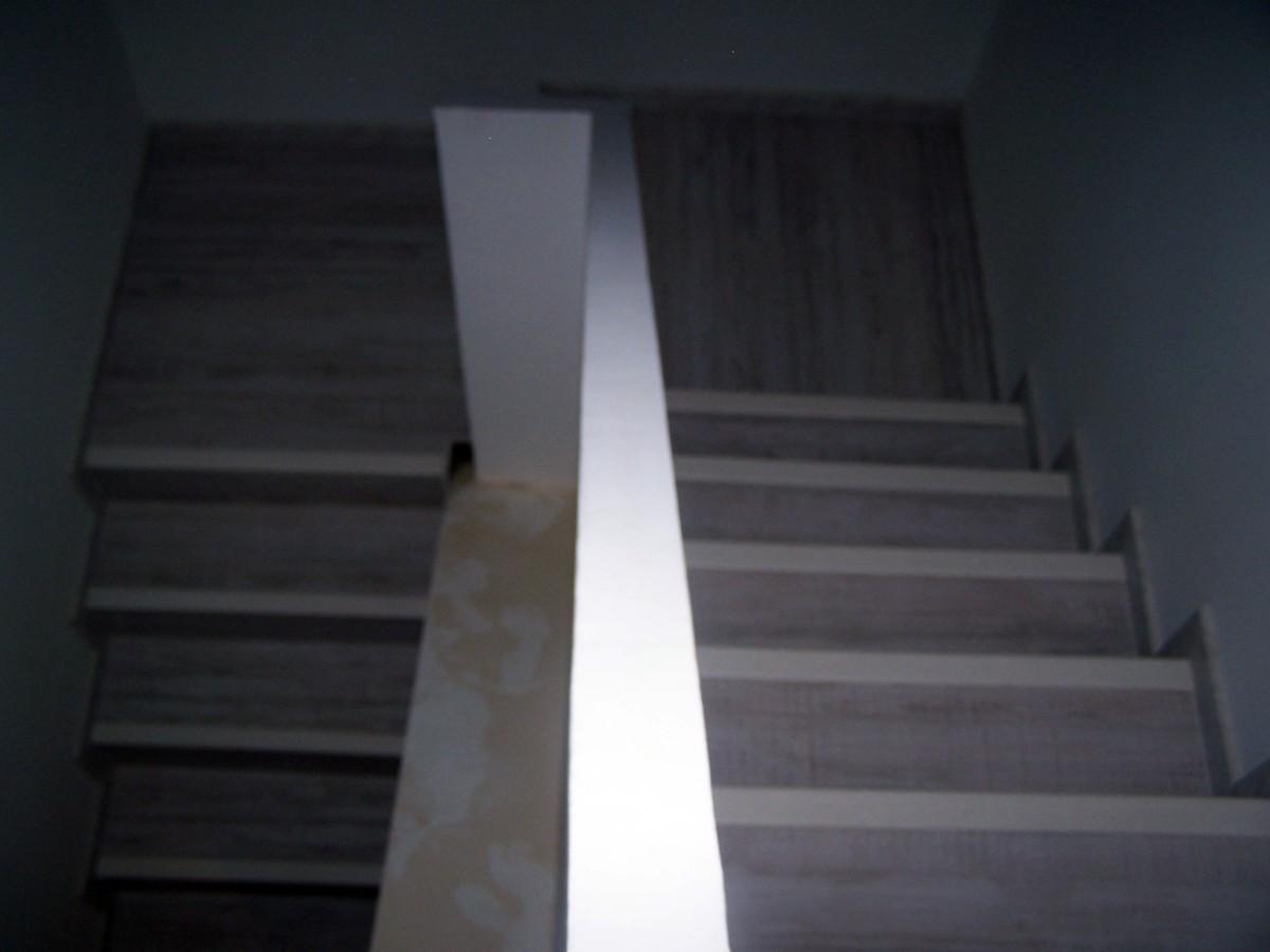 Escalera forrada