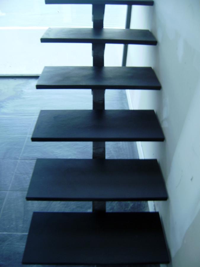 Escalera pizarra negra