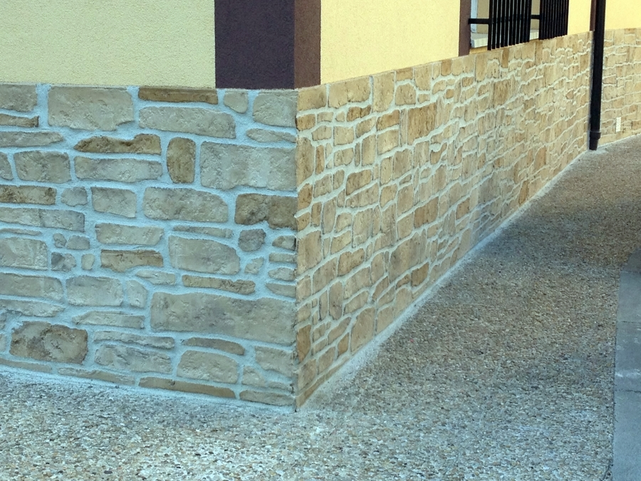 Foto estampados de piedra artificial de rehabilitaci n y - Piedra artificial para fachadas ...