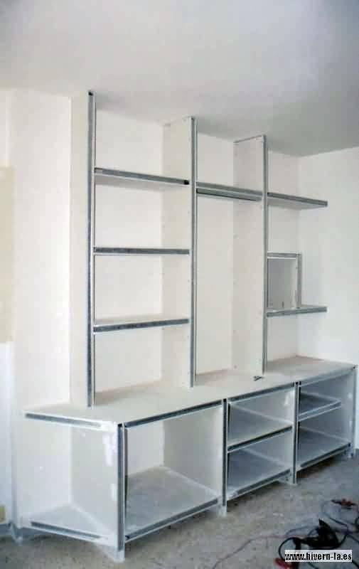 Foto estanteria de pladur 3 de pintoresbcn 233020 for Muebles de pladur para salon