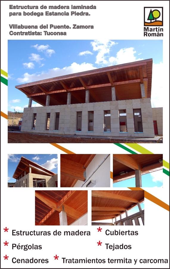 Foto estructura de madera laminada de mart n rom n mangas - Estructuras de madera laminada ...