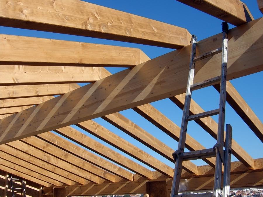 Foto estructura de tejado de etj concadema sl 321300 - Estructura tejado madera ...