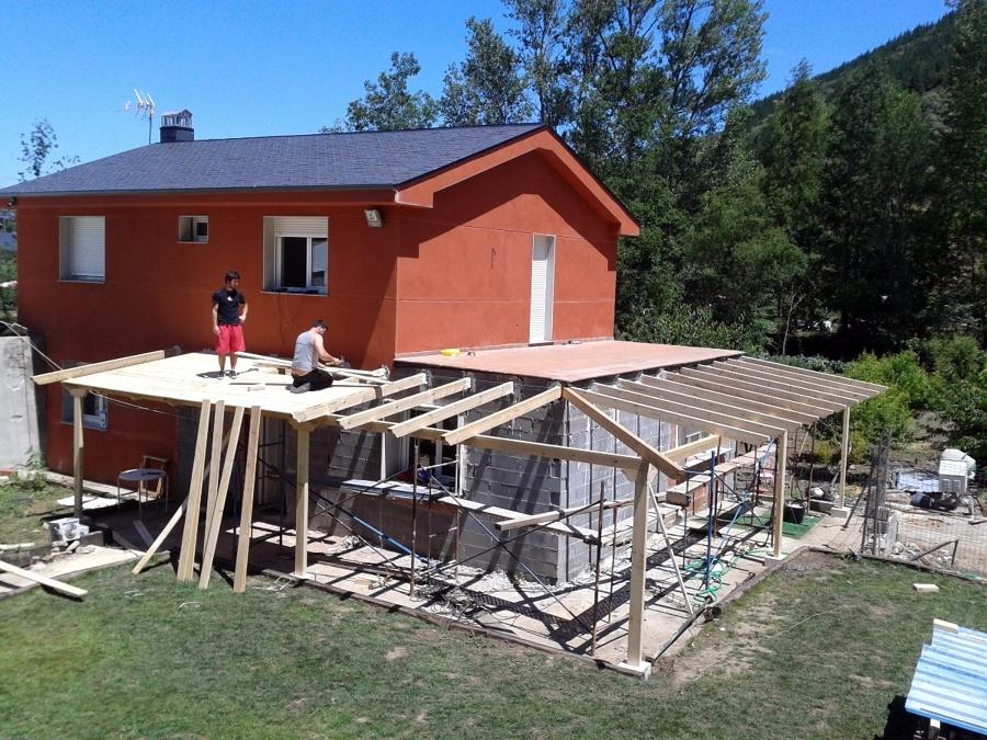 estructura y losado de porche