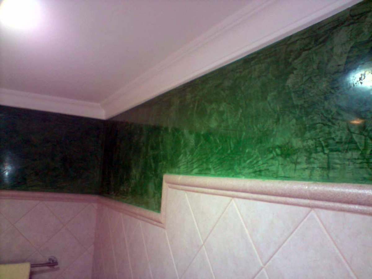 Foto estuco verde en ba o de carlos garcia pintura y - Fotos de estuco ...