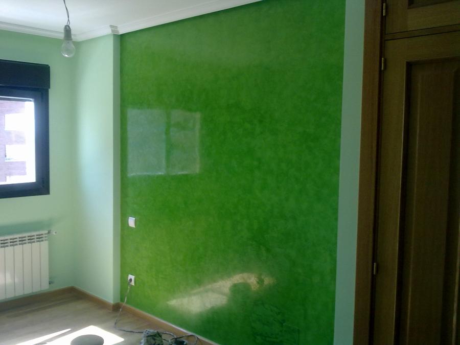 Foto estuco verde de pinturas escribano 407716 habitissimo - Pinturas estuco veneciano ...