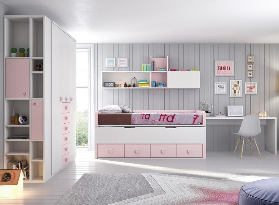 Foto camas compactas con cajones de muebles maxjuvenil for Camas en l ikea