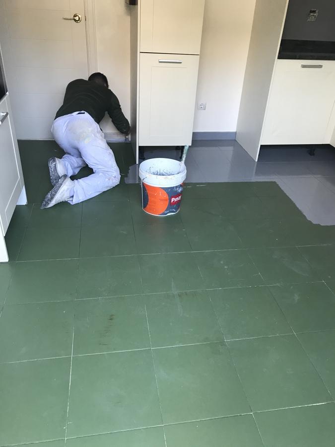Cambiando color azulejos