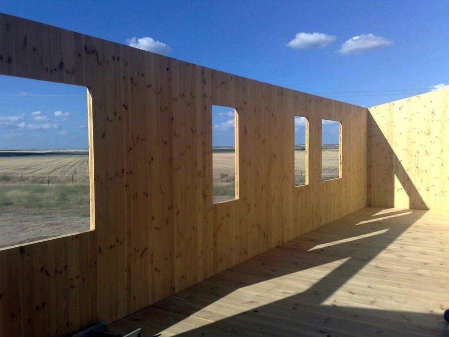 fachada casa prefabricada madera