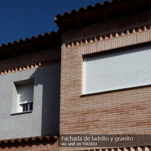 Foto fachada de ladrillo y granito de gestiobras 191899 habitissimo - Fachadas ladrillo rustico ...