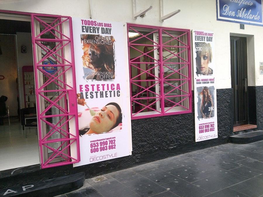 Foto fachada peluqueria soap en los cristianos de - Fachadas de peluquerias ...