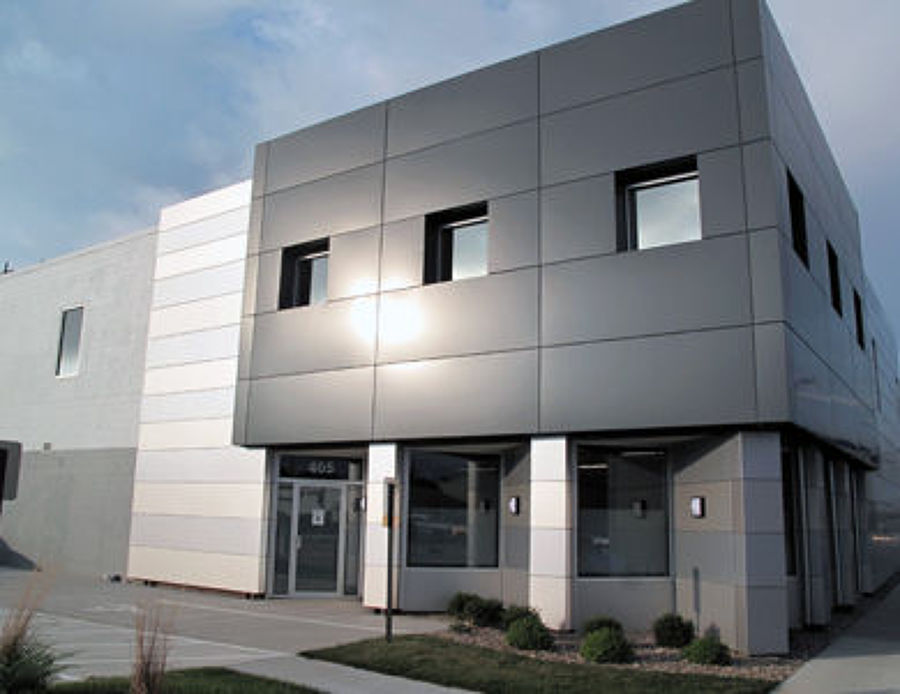 foto fachadas de panel composite de ivm industrial. Black Bedroom Furniture Sets. Home Design Ideas