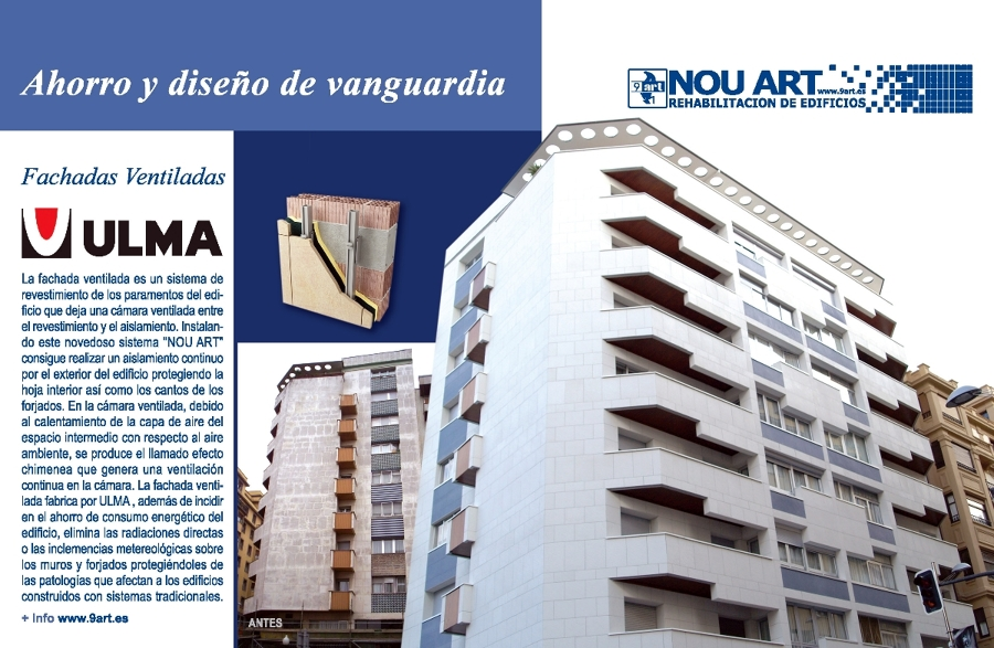 Foto fachadas ventiladas de nou art rehabilitaci n - Ulma granada ...