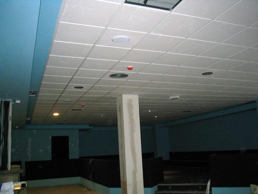 Falso techo de escayola aligerada 60 x 60