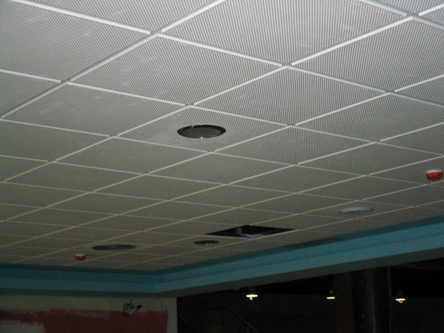 Foto falso techo de escayola aligerada de aislamientos for Falso techo decorativo en escayola