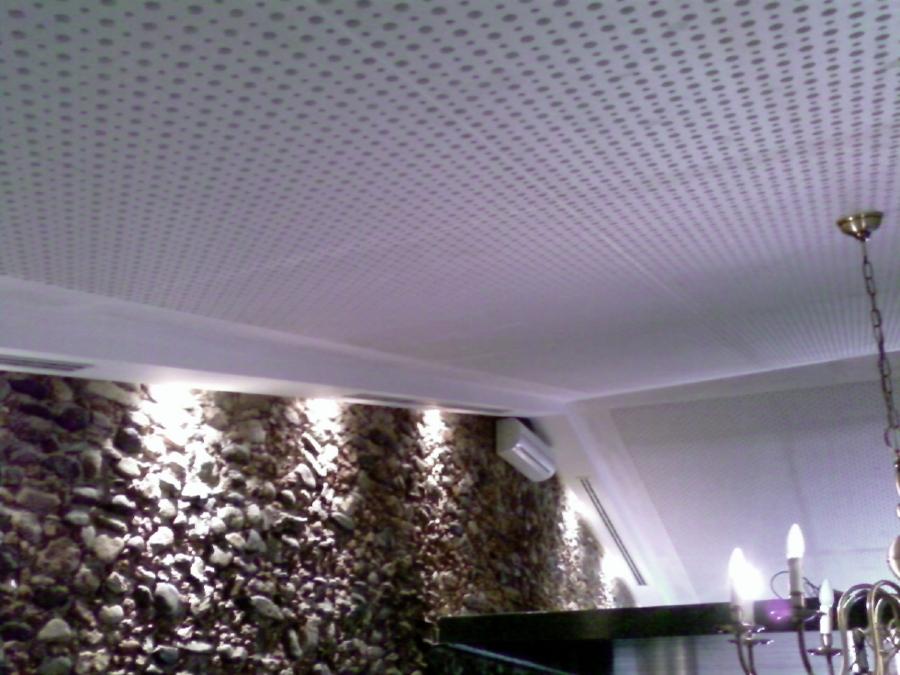 Casas cocinas mueble falso techo madera for Falsos techos de madera