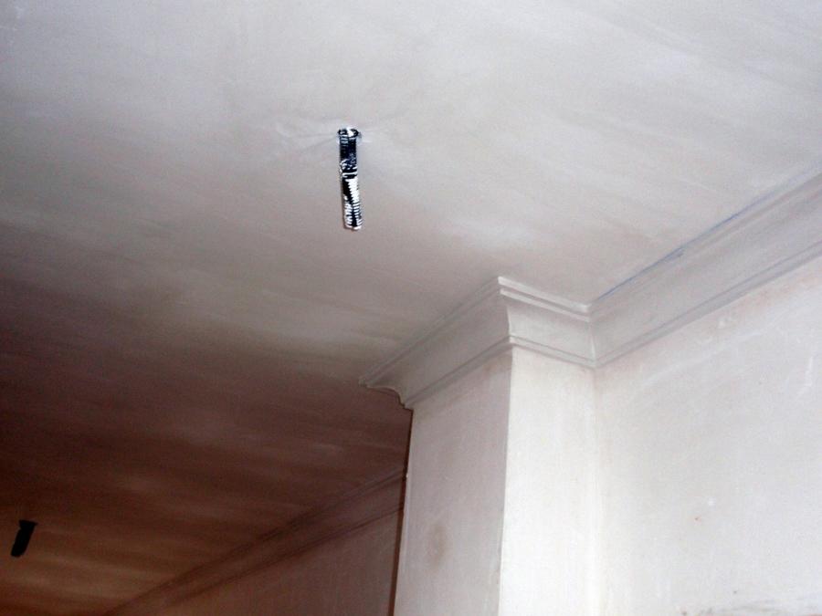 Foto falso techo liso con moldura de media ca a grande - Precio moldura escayola techo ...
