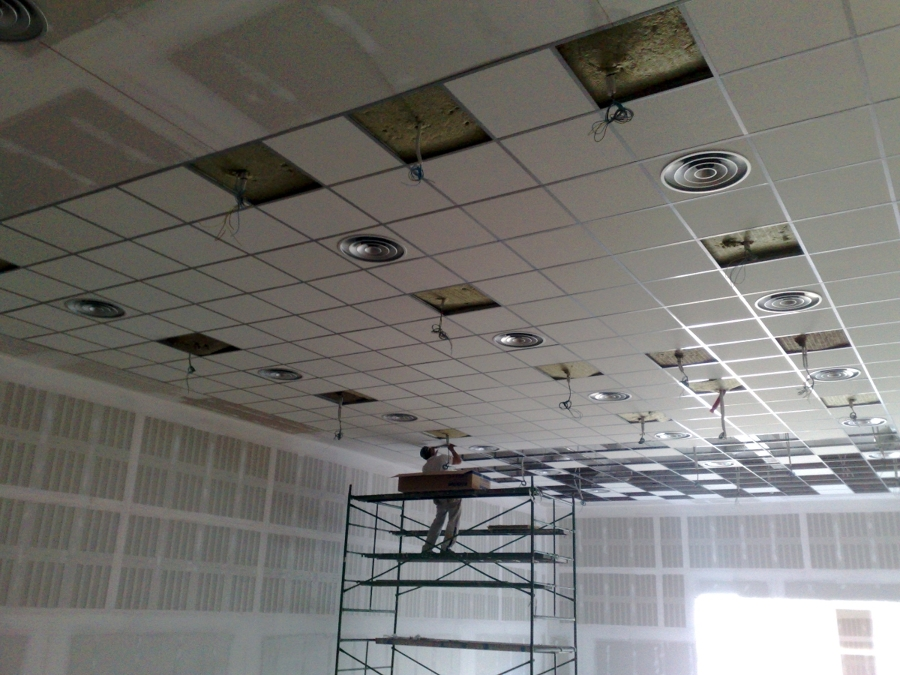 Foto falsos techos en locales y naves de construcciones - Materiales para techos falsos ...