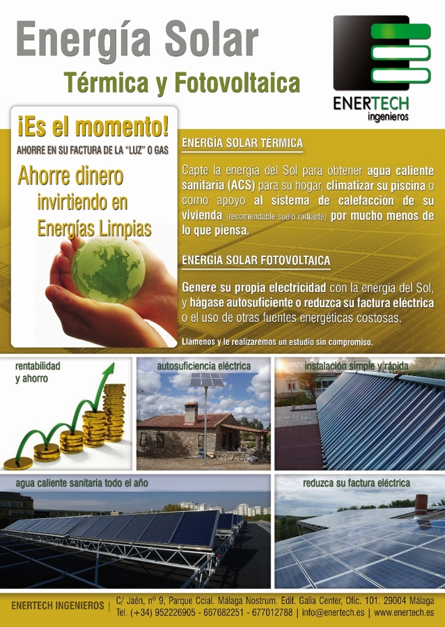 Foto Flyer Energ 237 A Solar T 233 Rmica Y Fotovoltaica De Etigen