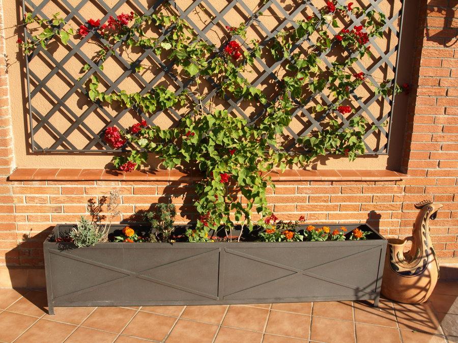 Foto forja para terraza en pedralbes ballas division y - Jardineras para terrazas ...