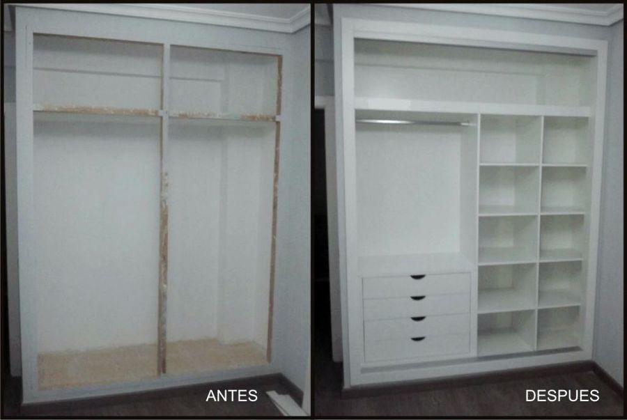 Foto forrado de interior de armario en melamina blanca de for Armarios melamina modelos