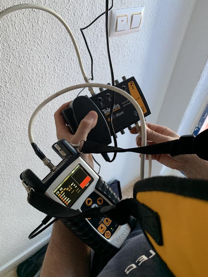 Reparación antena