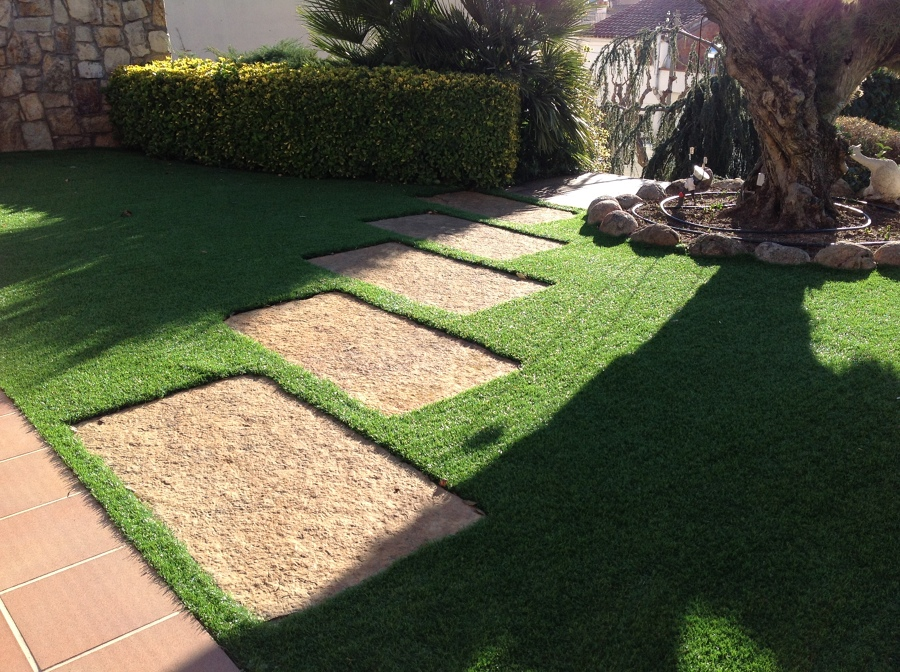 Foto c sped artificial de jardineria la font 1112286 - Cesped artificial castellon ...