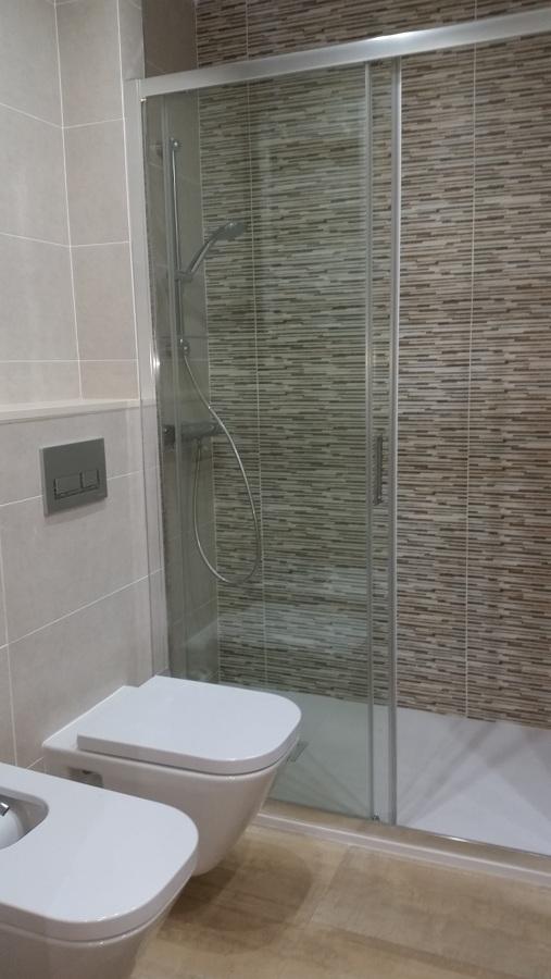 Plato de ducha e inodoro suspendido