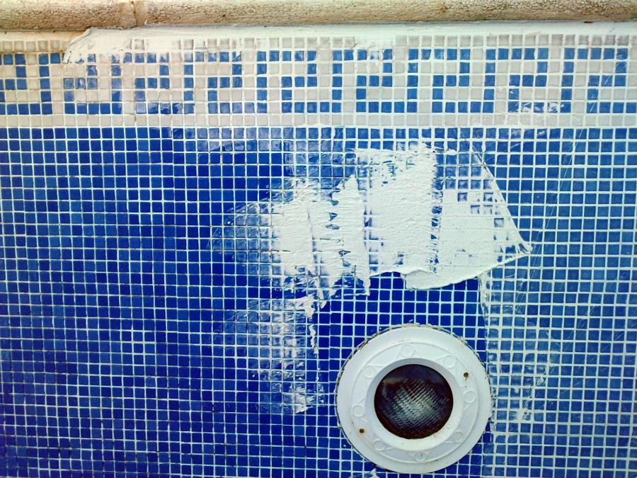 fraguado de piscina en reforma