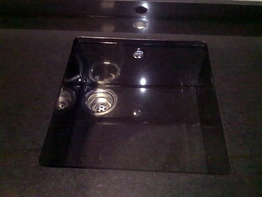 Foto fregadero de granito negro zimbawe de m rmoles y - Fregadero de granito ...